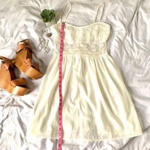 White lace spaghetti strap sundress